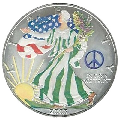 2003 1oz Silver Eagle – Peace Sign Privy Mark